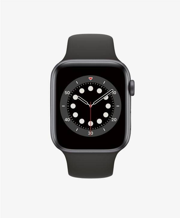 Apple Watch Series 6 GPS Aluminium Space Gray Bracelet Sport Black 44 mm  - 1